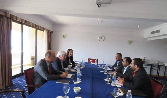 دیدار هیأت انصارالله با فرستاده سازمان ملل در مسقط