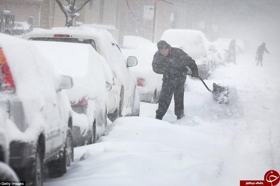 دستکم 7 کشته بر اثر بارش برف و باران های شدید در آمریکا