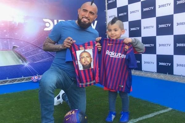 ملاقات پسر 6 ساله ایرانی با ستاره بارسا ، آدرین به آرزویش رسید
