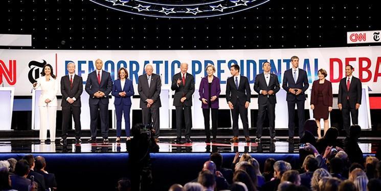 چهارمین مناظره انتخاباتی دموکرات های آمریکا برگزار گردید