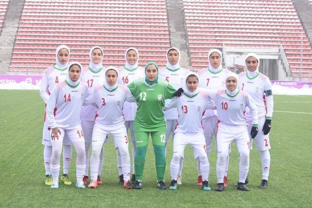 دختران فوتبالیست ایران نایب قهرمان کافا شدند